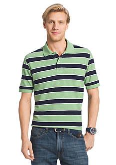 IZOD Short Sleeve Stripe Pique Polo Shirt