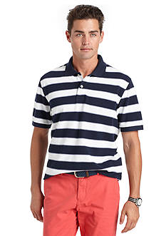 IZOD Short Sleeve Stripe Pique Polo Shirt