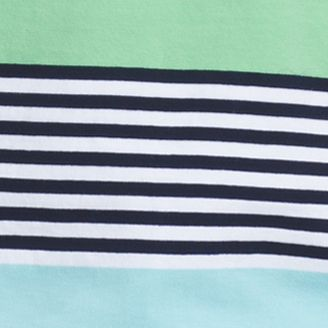 Shirts For Guys: Absinthe Green IZOD Short Sleeve Engineered Striped Polo Shirt