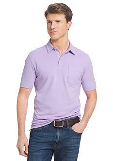 IZOD Short Sleeve Solid Chatham Clique Pocket Polo Shirt
