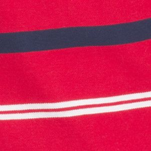 Men: Short Sleeves Sale: Real Red IZOD Short Sleeve Striped Advantage Polo Shirt