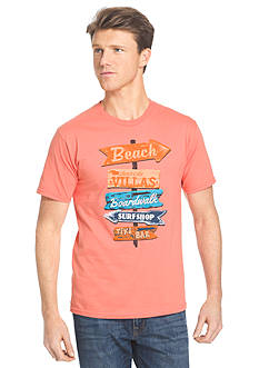 IZOD Short Sleeve Beach Signs Graphic Tee