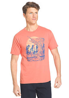 IZOD Short Sleeve Marlin Jump Graphic Tee