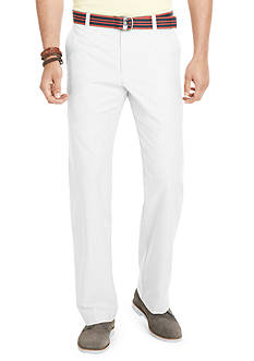 Izod Straight Fit Flat Front Wrinkle-Free Pants with Belt
