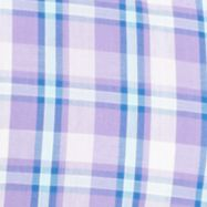 St Patricks Day Outfits For Men: Dahlia Purple IZOD Big & Tall Light Weight Poplin Plaid Button Down Shirt