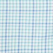 St Patricks Day Outfits For Men: Blue Radiance IZOD Short Sleeve Lightweight Plaid Woven Shirt