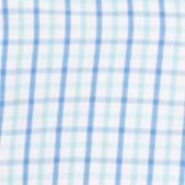 Izod Men Sale: Aqua Sky IZOD Long Sleeve Tattersal Woven Button Down Shirt