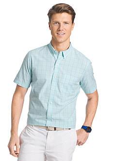 IZOD Short Sleeve Seaport Poplin Button-Down Shirt