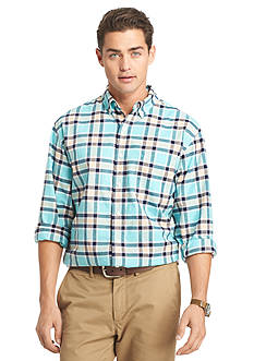 IZOD Long Sleeve Newport Oxford Plaid Button-Down Shirt