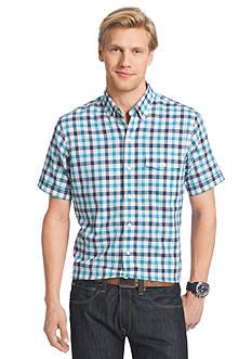 IZOD Short Sleeve Dockside Chambray Button Down Shirt