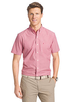IZOD Short Sleeve Button Down No Iron Shirt