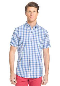 IZOD Short Sleeve Seaport Poplin Button Down Shirt