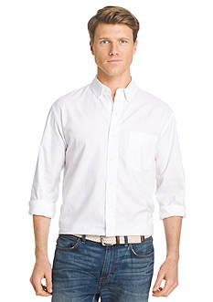 IZOD Long Sleeve Newport Oxford Solid Button Down Shirt