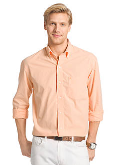 IZOD Long Sleeve Check Button Down Shirt