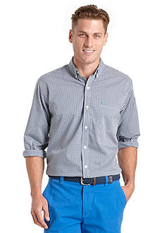 IZOD Long Sleeve Gingham Woven Button-Down Shirt