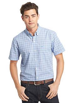 IZOD Seaport Poplin Short Sleeve Woven Shirt