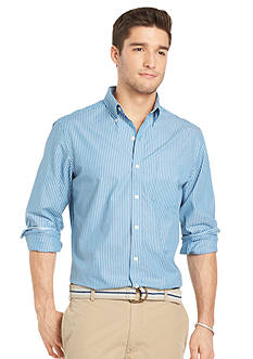 Izod Slim Fit Stripe Button-Front Shirt