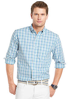 Izod Button-Front Plaid Woven Shirt