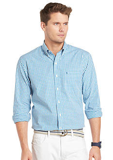 Izod Button-Down Shadow Gingham Shirt