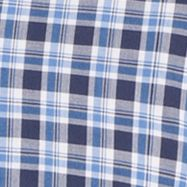 Mens Casual Shirts: Check & Plaid: Peacoat IZOD Long Sleeve Poplin Button Down Shirt