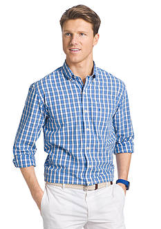 IZOD Long Sleeve Hampton's 60s Poplin Button Down Shirt