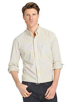 IZOD Long Sleeve Hampton's 60s Poplin Button Down Shirt