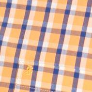 Big & Tall: Izod Casual Shirts: Mock Orange IZOD Big & Tall Short Sleeve Plaid Non-Iron Button Down Shirt
