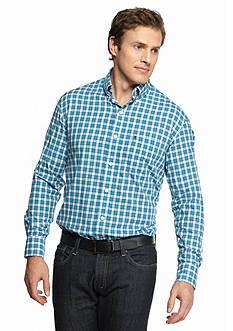 IZOD Big & Tall Long Sleeve Button Down Plaid Shirt