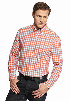 IZOD Big & Tall Long Sleeve Button Down Plaid Shirt