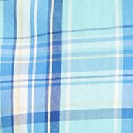 Izod: Aqua Sky IZOD Big & Tall Short Sleeve Plaid Poplin Shirt