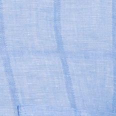 Big and Tall Solid Shirts: Blue Revival IZOD Big & Tall Short Sleeve Windowpane Print Woven Shirt