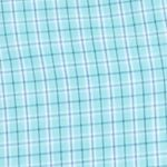 Mens Big and Tall Casual Shirts: Check & Plaid: Aqua Sky IZOD Big & Tall Long Sleeve Hampton Poplin Plaid Shirt