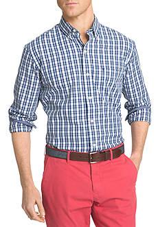 IZOD Big & Tall Advantage Stretch Plaid Shirt