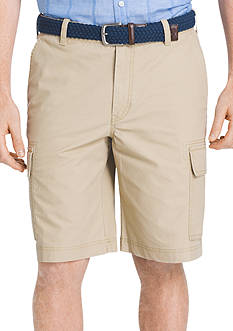 IZOD Big & Tall Seaport Poplin Cargo Shorts