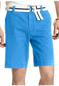 Izod Big & Tall Saltwater Flat Front Shorts