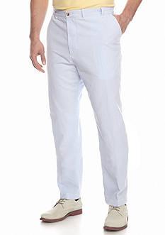 IZOD Big & Tall Sandybay Seersucker Flat Front Pants