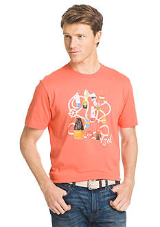 IZOD Big & Tall Buoy Printed Graphic Tee