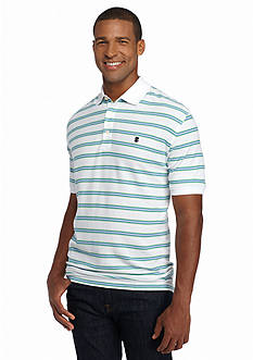IZOD Big & Tall Short Sleeve Stripe Advantage Polo Shirt