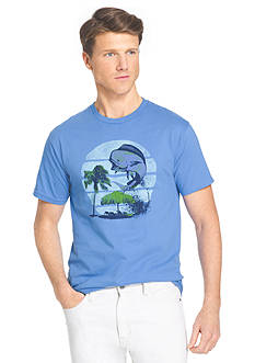 IZOD Big & Tall Short Sleeve Mahi Splash Graphic Tee