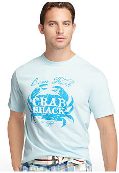 Izod Big & Tall Crab Shack Screen Tee