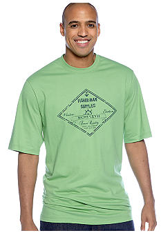 Izod Big & Tall Fisherman Supplies Screen Tee