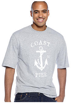Izod Big & Tall Coast Pier Screen Tee