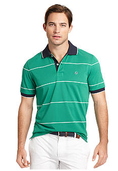 Izod Big & Tall Stripe Pique Polo