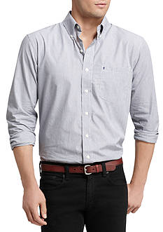 IZOD Big & Tall Mini Check Essential Woven Shirt