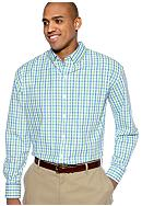 Izod Big & Tall Tattersall Woven Shirt