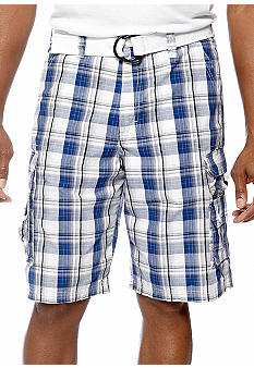 Lee Wyoming Ripstop Plaid Cargos Cobalt