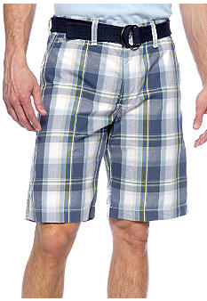 Lee Blue Chap Plaid Bermuda Shorts