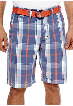 Lee Skipper Plaid Bermuda Shorts