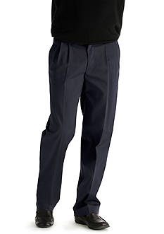 Lee Big & Tall Custom Comfort Fit Pleated Wrinkle Resistant Pants