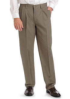 Lee Big & Tall Stain Resistant Relaxed Comfort Fit Pleated Pants